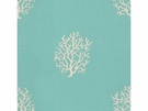 KRAVET COUTURE NEWPORT STYLE EMBROIDERY LINEN FABRIC TURQUOISE