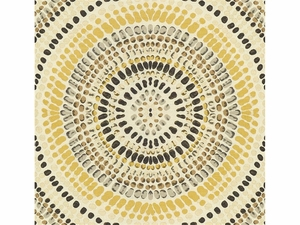 KRAVET COUTURE PAINTED MOSAIC JACQUARDS FABRIC GOLDEN GREY