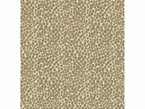 KRAVET COUTURE POLKA DOT PLUSH VELVET FABRIC MUSHROOM