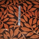 KRAVET COUTURE STROLLING LEAVES FOLIAGE BELGIUM VELVET FABRIC BROWN