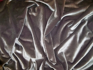KRAVET DESIGNS PLUSH VELVET FABRIC PEWTER