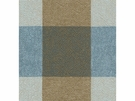 KRAVET ECHO CHECK COTTON/LINEN FABRIC BLUE BROWN