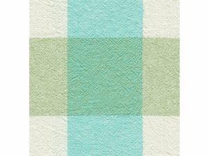 KRAVET ECHO CHECK COTTON/LINEN FABRIC BLUE TEAL WHITE
