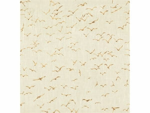 KRAVET EXCLUSIVE GRIFFITH PRINTED LINEN FABRIC BROWN