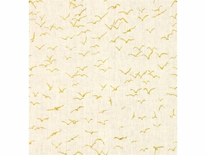 KRAVET EXCLUSIVE GRIFFITH PRINTED LINEN FABRIC CITRON