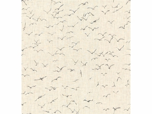 KRAVET EXCLUSIVE GRIFFITH PRINTED LINEN FABRIC FOG