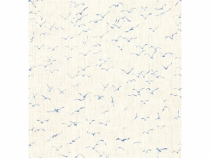 KRAVET EXCLUSIVE GRIFFITH PRINTED LINEN FABRIC SKY