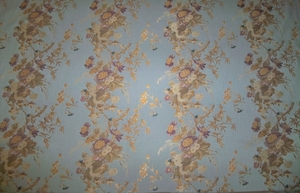 KRAVET LEE JOFA FLORAL SUMMER SCROLLS BROCADE UPHOLSTERY�FABRIC 10 YARDS BLUE MULTI