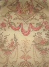 KRAVET LEE JOFA LA COIFFURE FRENCH TOILE FABRIC ROSE BEIGE GREEN PEACH