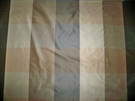KRAVET LEE JOFA OLMSTEAD SILK CHECK TAFFETA FABRIC CHARCOAL BROWN BEIGE
