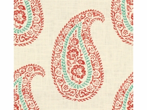 KRAVET MADIRA LINEN COTTON FABRIC CORAL