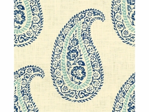 KRAVET MADIRA LINEN COTTON FABRIC SEA