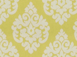 KRAVET MALU IKAT KILIM LINEN FABRIC LEMON DROP