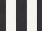 KRAVET MINI DECK STRIPED COTTON FABRIC NERO