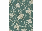 KRAVET NIGHT VINE LINEN FABRIC CHINA BLUE