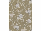 KRAVET NIGHT VINE LINEN FABRIC CINDER