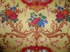 KRAVET PIERRE DEUX FRENCH COUNTY MEDALLIONS TOILE FABRIC GOLDENROD RED