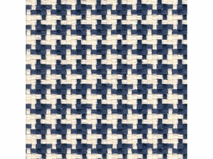 KRAVET SMART HOUNDSTOOTH UPHOLSTERY FABRIC BLUE