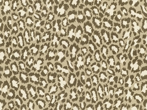 KRAVET SPOTTED CAT COTTON FABRIC MINK