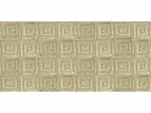 LEE JOFA ATHENEE GREEK KEY GEOMETRIC CUT VELVET FABRIC BEIGE