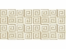 LEE JOFA ATHENEE GREEK KEY GEOMETRIC CUT VELVET FABRIC IVORY