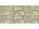 LEE JOFA ATHENEE GREEK KEY GEOMETRIC CUT VELVET FABRIC TAUPE