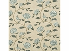 LEE JOFA BERRINGTON FLORAL VINES FABRIC AQUA CREAM