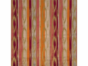 LEE JOFA BIRCH IKAT KILIMS VELVET FABRIC RUBY SIENNA