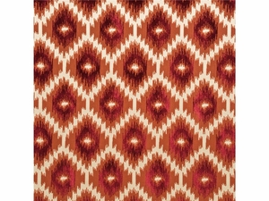 LEE JOFA BURR VELVET IKAT KILIMS FABRIC RUBY