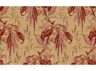 LEE JOFA CAMILLE PRINTED COTTON FABRIC BEIGE RED