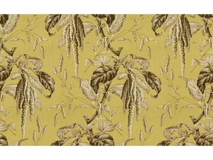 LEE JOFA CAMILLE PRINTED COTTON FABRIC CELERY BARK