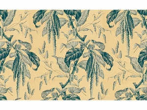 LEE JOFA CAMILLE PRINTED COTTON FABRIC OYSTER BLUE