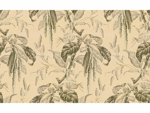 LEE JOFA CAMILLE PRINTED COTTON FABRIC SAND GREY
