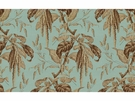 LEE JOFA CAMILLE PRINTED COTTON FABRIC SKY BROWN