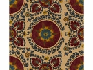 LEE JOFA CATALINA SUZANI EMBROIDERY FABRIC GARNET