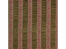 LEE JOFA COLLINS PAISLEY STRIPE CHENILLE FABRIC MOSS