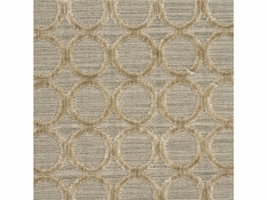 LEE JOFA CONTEMPORARY CIRCLES CUT VELVET FABRIC BISCUIT