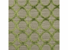 LEE JOFA CONTEMPORARY CIRCLES CUT VELVET FABRIC LEAF LT GREEN