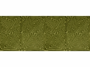 LEE JOFA DIAMOND MAZE VELVET FABRIC FERN