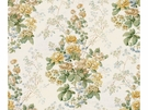 LEE JOFA ELTON HANDBLOCK COTTON FABRIC YELLOW GREEN