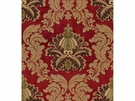 LEE JOFA EMILIA EMBROIDERED SILK DAMASK FABRIC GARNET