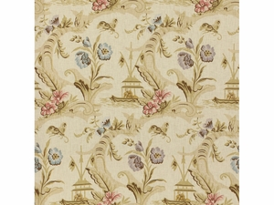 LEE JOFA FANTAISIE CHINOISE LINEN FABRIC CREAM