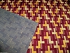 LEE JOFA G P & J BAKER DECO GEOMETRIC GROSPOINT CUT VELVET FABRIC 4 YARDS BURGUNDY