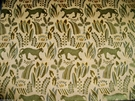 LEE JOFA G P & J BAKER PUMA PANTHER CUT VELVET UPHOLSTERY FABRIC 4 YARDS GOLD