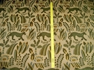 LEE JOFA G P & J BAKER PUMA PANTHER CUT VELVET UPHOLSTERY FABRIC 5 YARDS GOLD