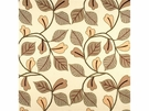 LEE JOFA GARRICK LEAF EMBROIDERED LINEN FABRIC LOVAT