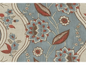 LEE JOFA GORE HOUSE FRENCH COUNTRY GLAZED LINEN FABRIC BLUE