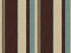 LEE JOFA GROUNDWORKS DRUMMOND STRIPE FABRIC AQUA/COCOA