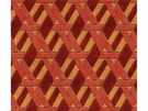 LEE JOFA GROUNDWORKS WELBECK VELVET FABRIC RED/ORANGE