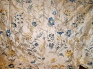 LEE JOFA GUINEVERE EMBROIDERED SILK FABRIC CREAM BLUE GOLDENROD MULTI